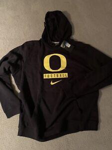 Mens XL Oregon Ducks Nike Football Black hoodie sweatshirt Pac 12