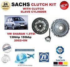 Per VW Sharan 1.9TDi 130bhp 150bhp 2002 > su SACHS Frizione Kit Cilindro Schiavo con
