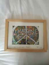 More details for the lennon wall prague imagine signed framed photograph print cobbe photography