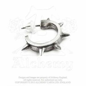 Alchemy Gothic Spike Ear Cuff Earring Unisex Single Handmade Pewter Metal Punk