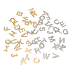 Gold Plated Stainless Steel  A-Z letters Charms Alphabet Charm Pendants Crafts