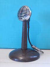 Vintage 1930S Astatic 30 Microphone & original Stand Shure Electro Voice Antique