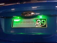 FGX FG BF BA AU EL EF Pair Bright Green LED Number Plate Light Bulb Falcon Ford