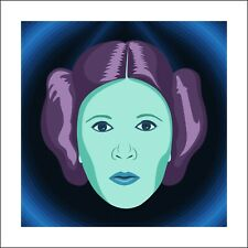 Princess Leia/Carrie Fisher Star Wars Pop Art Ltd. Ed. Print Signed by Artist