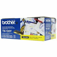 Original Brother TN-135Y TN135y jaune Cartouche d'encre HL-4050 DCP-9040CN C