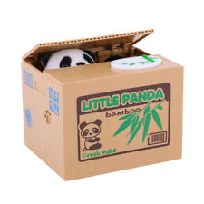 Panda Piggy Bank Money Box Automatic Stealing Coin Saving Money Box Kids Gift