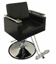 New Luxurous Contemporary Hydraulic Barber Chair Styling Salon Spa Beauty-Black