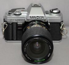 MINOLTA X-370 35mm VINTAGE SLR Film Camera MC F3.5 28-70mm Lens Very CLEAN!