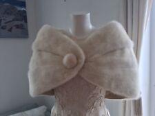 Beautiful Vintage White Ivory Mink Fur Capestole bolero WEDDING