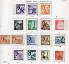 MALTA STAMPS 1956-57 DEFINITIVES  SG 266/279 MM PART SET TO 2/6