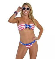 Patriotic USA Flag Stars And Stripes Bikini Swimwear Swimsuit