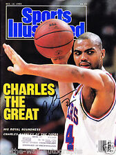 SIR CHARLES BARKLEY HAND SIGNED AUTOGRAPHED SPORTS ILLUSTRATED! WITH PROOF +COA!