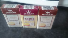 Dominion Sugar Free Sweets. Rhubarb And Custard Flavour, 44g Sealed. X 3  Boxes