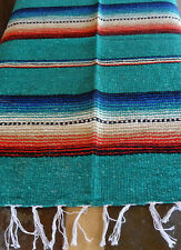 Rio Bravo Serape ONWRB-Teal Southwest Southwestern Blanket Table Cover Afghan