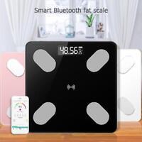 Digital LCD Körperfettwaage mit Bluetooth iOS App Personenwaage Analysewaage