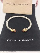 David Yurman Renaissance Cable Bracelet Rhodolite Garnet Citrine & 14k Gold 5mm