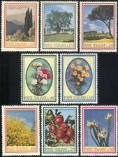 Italy 1966 Pine/Cypress/Olive/Flowers/Apples/Trees/Plants/Nature 8v set (n45721)