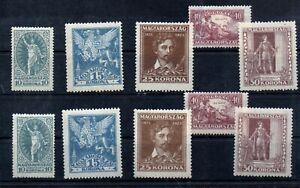 Old  stamps of Hungary 1923  # 369-373  MLH PETOFI SANDOR  2 sets