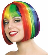 Miss China Rainbow Pride Wig Short Fancy Dress Halloween Adult Costume Accessory