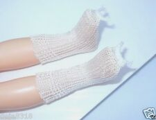 "White Rayon Socks Fits 12"" Doll Shirley Temple, Lissy, Little Women 1950 Vintage"