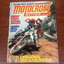 MOTOCROSS ACTION NOVEMBER 1979 1980 DG CATALOG USGP BOB HANNAH RM125 KX250 VMX