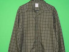 Brooks Brothers Men's Size M Medium 100% Cotton Green Plaid Long Slv Shirt