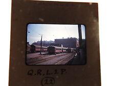1947 QRL & P Quebec canada Trolley Kodachrome Slide Photo KSN