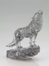 3D Crystal Puzzle - Wolf Schwarz 37 Teile Kristall Puzzle