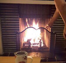 Grille pare feu cheminée (feu ouvert).