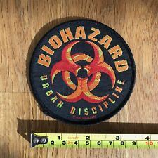 BIOHAZARD Urban Discipline RARE UK Embroidered Woven Sew On Patch from 1993