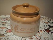 BENDIGO POTTERY AUSTRALIA HERITAGE COLLECTION MUSTARD & CREAM COFFEE CANISTER