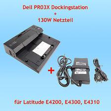 Dell PR03X Dockingstation + Dell 130 W Netzteil für Latitude E4200 E4300 E4310