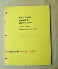 New Holland Model 800 Manure Spreader Service Parts Catalog Manual