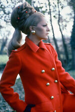 Virna Lisi 11x17 Mini Poster vintage fashion pose in profile red coat
