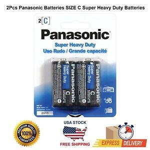 LOT Panasonic Batteries SIZE C Super Heavy Duty Batteries