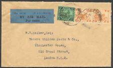 Malaya Selangor 1932 flown cover, 58c rate