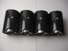 Fits BMW M1 M2 M3 M4 M5 M6 Carbon Fiber Exhaust tip's (4) 1 2 3 4 5 6 7 8 Series