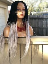 Braided Wig. Two-tone . wig .Ready to ship.The length is 24inches long