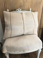 French PILLOW COVER vintage GRAIN SACK fabric