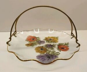 Chance  Glass 21cm Anemone dish bowl plate with handle.