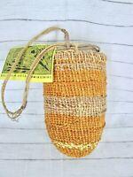Bulabula Arts Open Weave Pandanus Hanging Basket Australian Aboriginal Art Vtg