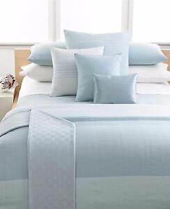 """Calvin Klein Studio Laguna Rib Stream Woven 12"""" x 16"""" Decorative Pillow Surf v15"""