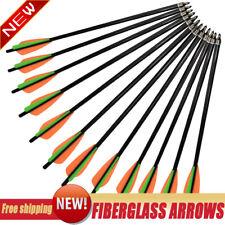 "14/16/18"" inch Fiberglass Archery Hunting Arrows Crossbow Bolts 6*8mm Us stock"