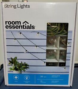 Globe String Lights 20 Bulbs Room Essentials Indoor Outdoor 15ft length
