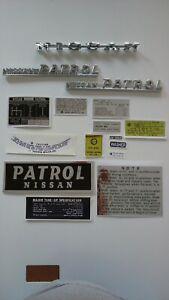 Nissan Patrol G61 4 gear Decals And Emblems