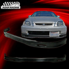 96-98 Spoon Style Front Bumper Lip Spoiler Poly-Urethane For Honda Civic 2/3/4Dr