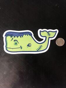 New Vineyard Vines Frankenstein Whale Sticker Halloween Hydroflask Yeti Decal