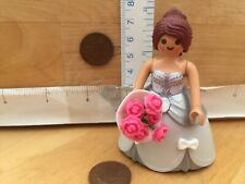 5805 Bride Brown Hair Wedding Dress Flower Boquet Playmobil New