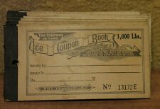 *VTG* Full Ice Coupon Booklet for 1,000 lbs. Ice circa 1940's Franklin Illinois