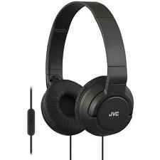 JVC HASR185 Lightweight Powerful Over Ear Headphones With Remote And Mic - Black